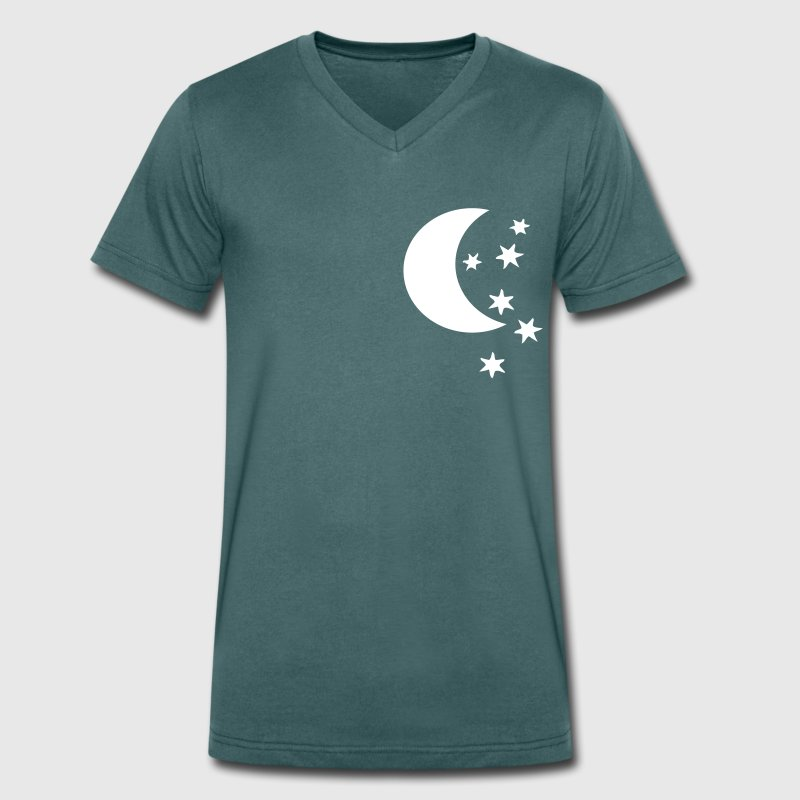 half moon and stars - Men's Organic V-Neck T-Shirt by Stanley & Stella