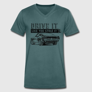 Drive Drive It - Fastback - Men's Organic V-Neck T-Shirt by Stanley & Stella