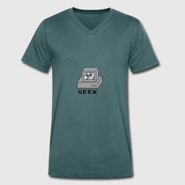 Old Computer computer - Men's Organic V-Neck T-Shirt by Stanley & Stella