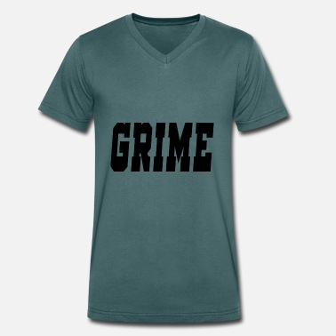 Grime grime - Men's Organic V-Neck T-Shirt by Stanley & Stella