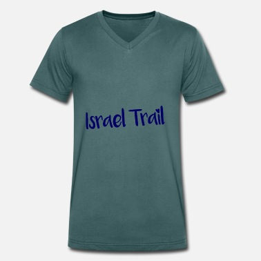Israel Trail Israel Trail lettering - Men's Organic V-Neck T-Shirt by Stanley & Stella