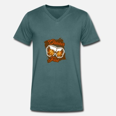 Pint Oktoberfest beer beer tent celebrate costume Munich - Men's Organic V-Neck T-Shirt by Stanley & Stella