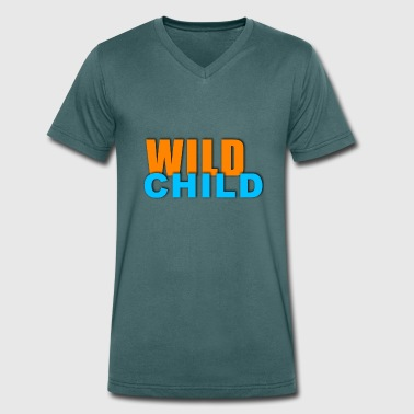 Funky Kids Be a wild child - Men's Organic V-Neck T-Shirt by Stanley & Stella