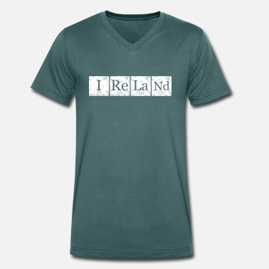 Ireland Geek Ireland Element Periodic Table Nerd Geek - Men's Organic V-Neck T-Shirt by Stanley & Stella