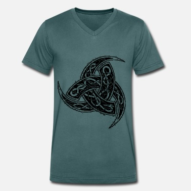 Viking Horn of Odin black graphic - Men's Organic V-Neck T-Shirt