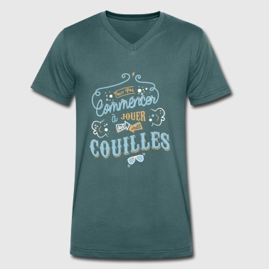 Citations Claudy - T-shirt bio col V Stanley & Stella Homme