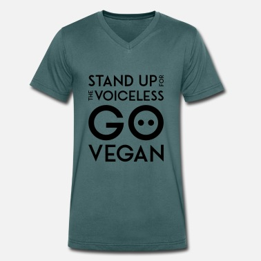 Anonymous STAND UP FOR THE VOICELESS black - Männer Bio T-Shirt mit V-Ausschnitt