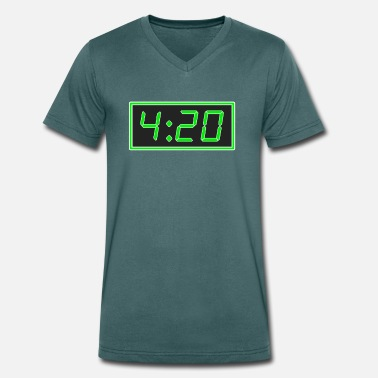 Pms 4:20 pm / 420 pm - Men's Organic V-Neck T-Shirt by Stanley & Stella