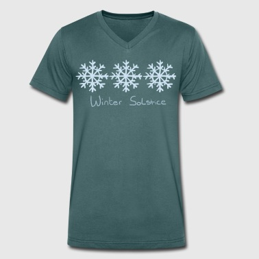Solstice Winter Solstice - Men's Organic V-Neck T-Shirt by Stanley & Stella