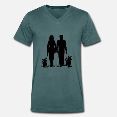 Couple Humour couple - T-shirt bio col V Stanley & Stella Homme