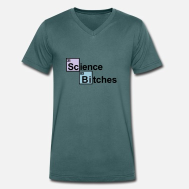 Science Bitch geek - Men's Organic V-Neck T-Shirt by Stanley & Stella
