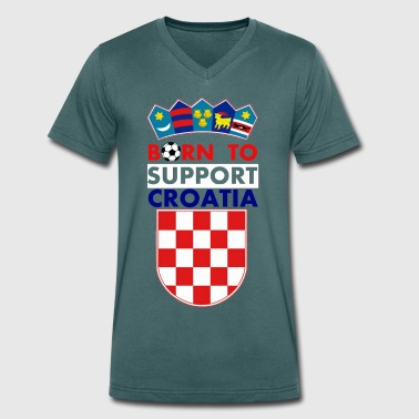 Support Croatia - Men's Organic V-Neck T-Shirt by Stanley & Stella