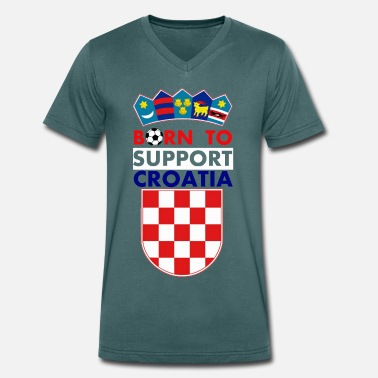 Bad Blue Boys Support Croatia - Men's Organic V-Neck T-Shirt by Stanley & Stella