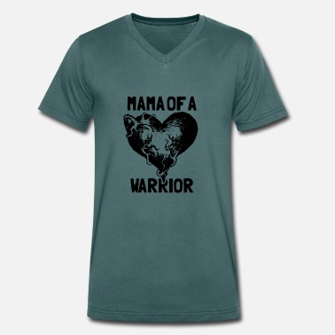 Pink Warrior Mama Of A Warrior - Men's Organic V-Neck T-Shirt by Stanley & Stella