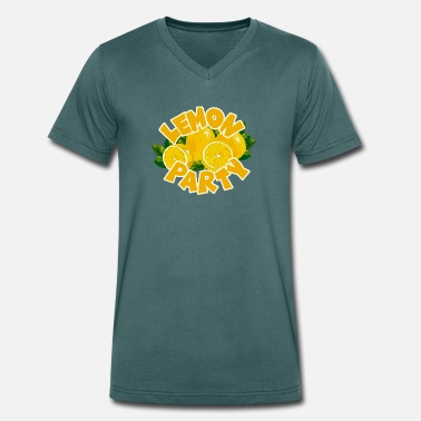 Lemon Jokes Lemon Party - Lemon Party - Men's Organic V-Neck T-Shirt by Stanley & Stella