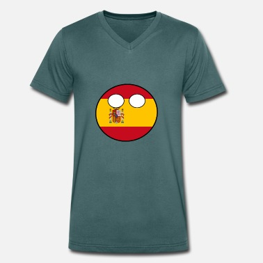 Countryballs Countryball Country Home Spain - Men's Organic V-Neck T-Shirt by Stanley & Stella