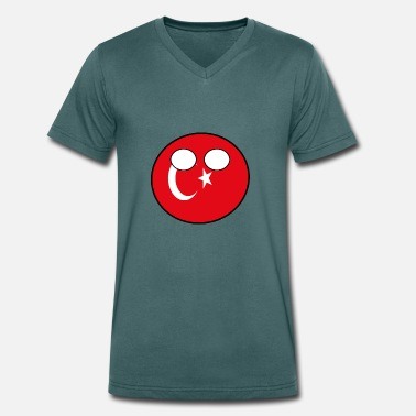 Countryball Countryball Country Home Turkey - Men's Organic V-Neck T-Shirt by Stanley & Stella