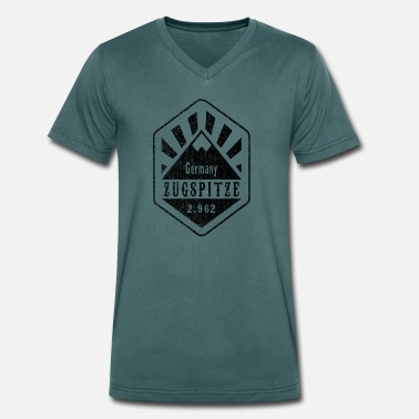 Zugspitze Zugspitze Germany - Used Look - Men's Organic V-Neck T-Shirt by Stanley & Stella
