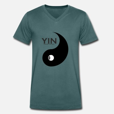 Yang Couple Yang as a couple design Yin is looking for couples - Men's Organic V-Neck T-Shirt by Stanley & Stella
