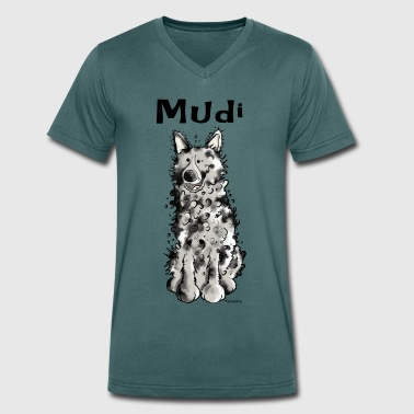 Mudi Happy Mudi - Men's Organic V-Neck T-Shirt by Stanley & Stella