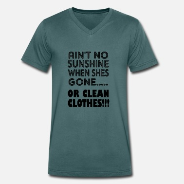 Cleaning Man or clean clothes - Men's Organic V-Neck T-Shirt by Stanley & Stella