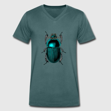Beetle - Men's Organic V-Neck T-Shirt by Stanley & Stella