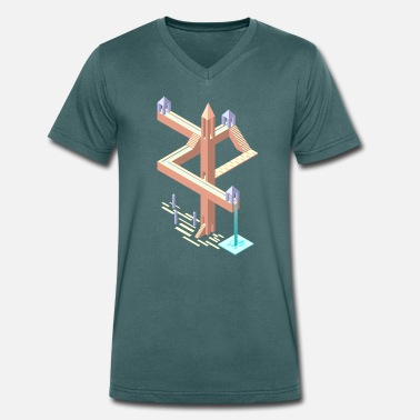 Monument Monument Valley tribute - Men's Organic V-Neck T-Shirt by Stanley & Stella
