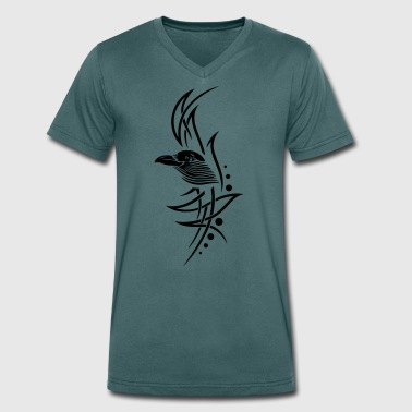 Tribal, tattoo with crows head. - Men's Organic V-Neck T-Shirt by Stanley & Stella