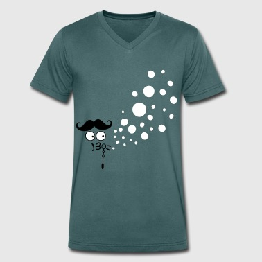 blowing bubbles play cc3 - Men's Organic V-Neck T-Shirt by Stanley & Stella