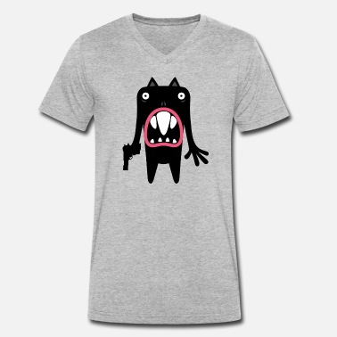 Oasis 'Oasi' monster 02 - Men's Organic V-Neck T-Shirt
