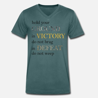 Defeat Victory and Defeat - Men's Organic V-Neck T-Shirt