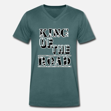 Street Kings King of the street - Men's Organic V-Neck T-Shirt by Stanley & Stella