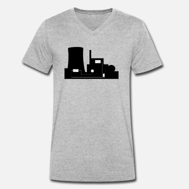 Power Plant power plant - Men's Organic V-Neck T-Shirt