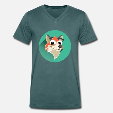 Fox - Men's Organic V-Neck T-Shirt