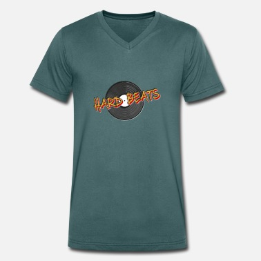 Hard House Hard beats vinyl - Men's Organic V-Neck T-Shirt