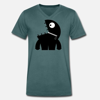 Collection For Kids Crunchy Kid - Space Monster Collection - Men's Organic V-Neck T-Shirt
