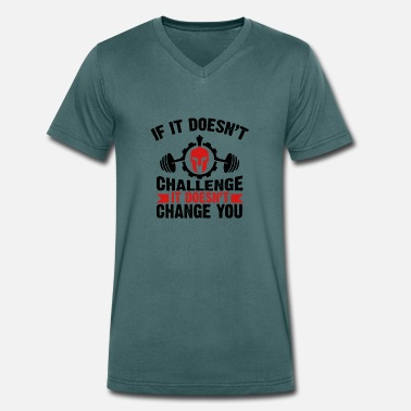 Does if it does not - Men's Organic V-Neck T-Shirt