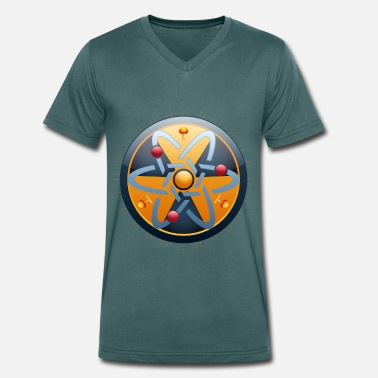 Atomic Energy Nuclear Power - Atoms - Atomic Bomb - Atomic Energy - Men's Organic V-Neck T-Shirt
