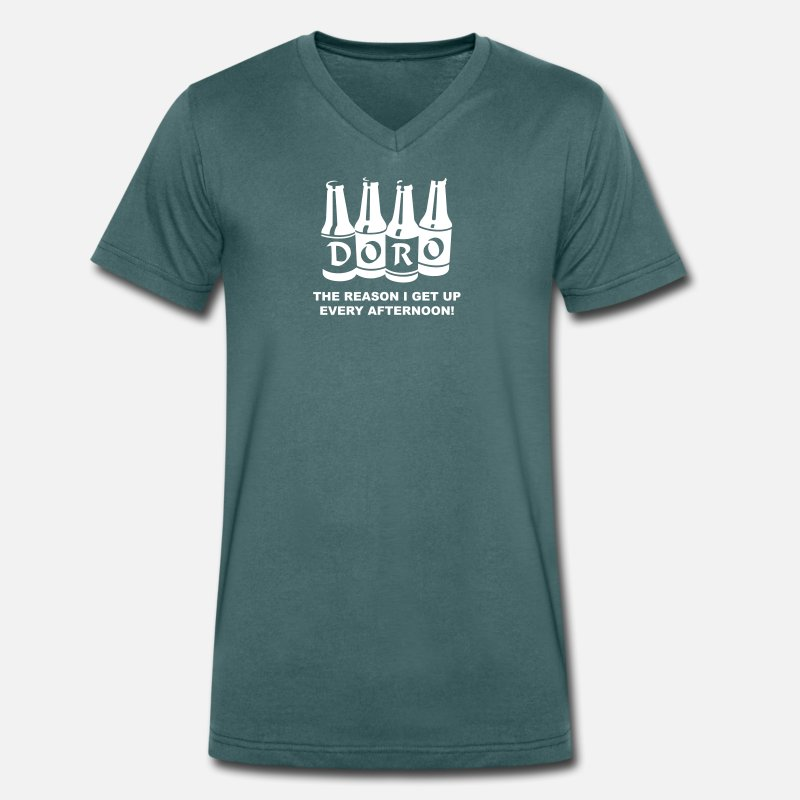 Zimbabwe T-Shirts - Doro, The Reason I get Up Every Afternoon! - Men's Organic V-Neck T-Shirt pacific