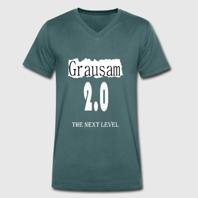 The Next Level - Cruel 2,0 - Mannen bio T-shirt met V-hals van Stanley & Stella