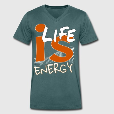 Energy - Men's Organic V-Neck T-Shirt by Stanley & Stella
