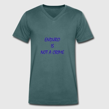 enduro is not a crime - Men's Organic V-Neck T-Shirt by Stanley & Stella