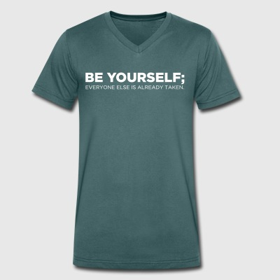 Be Yourself - Mannen bio T-shirt met V-hals van Stanley & Stella