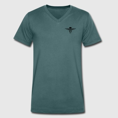 lines - Men's Organic V-Neck T-Shirt by Stanley & Stella