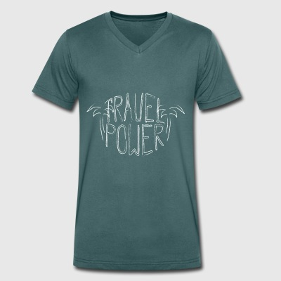 Travel Power - Mannen bio T-shirt met V-hals van Stanley & Stella