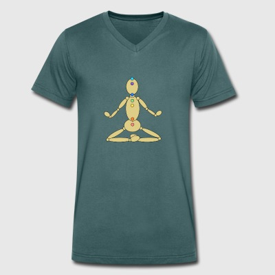 chakras - Men's Organic V-Neck T-Shirt by Stanley & Stella