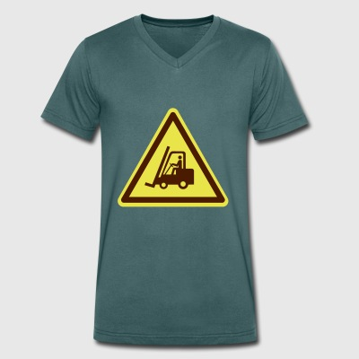 Forklift plate (colors adjustable!) - Men's Organic V-Neck T-Shirt by Stanley & Stella
