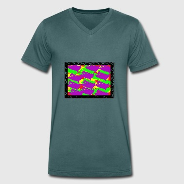 pixel design - Men's Organic V-Neck T-Shirt by Stanley & Stella