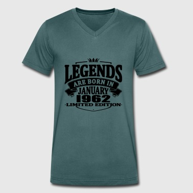 Legends are born in january 1962 - Men's Organic V-Neck T-Shirt by Stanley & Stella
