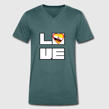 Love Land Roots Brunei - Men's Organic V-Neck T-Shirt by Stanley & Stella